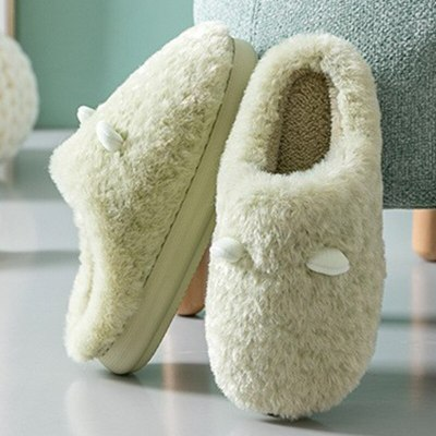 Winter  Plush CottonFlat Thick Heels Shoes  Platform Lovers Fur Slides Slippers