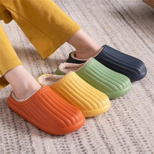 Warm Plush Slippers Winter Waterproof Slippers