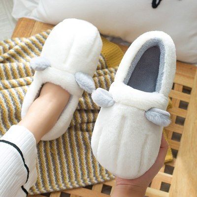 Warm Winter Home Slippers Cat's Claw Short Plush Non Slip Indoor Shoes