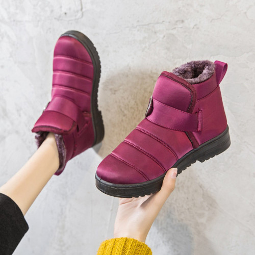 Women Winter Snow Boots Ankle Boots Ladies Warm Fur Comfort Casual Plush Shoe Hook Loop Flat Female Platform Slip On Boot