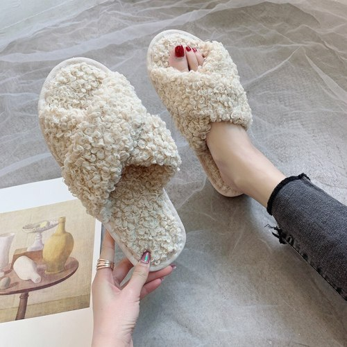 Woman Winter Women Home Slippers Soft Thick Non-Slip Bottom House Slippers
