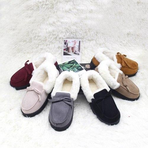 Winter Cotton Slippers Home Couple Non-Slip Indoor Silent Soft Bottom Plush Slippers