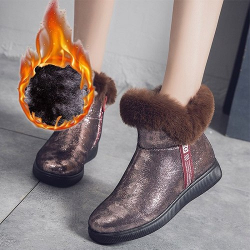 Women Warm Ankle Boots Ladies Short Boots Footwear Comfortable Flat Fashion