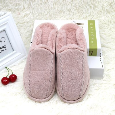 Women Home  Warm Plush Flats Flops Soft Sole Indoor Cotton Slipper