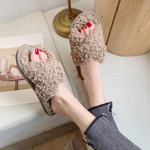 Woman Winter Women Home Slippers Soft Thick Non-Slip Bottom House Slippers