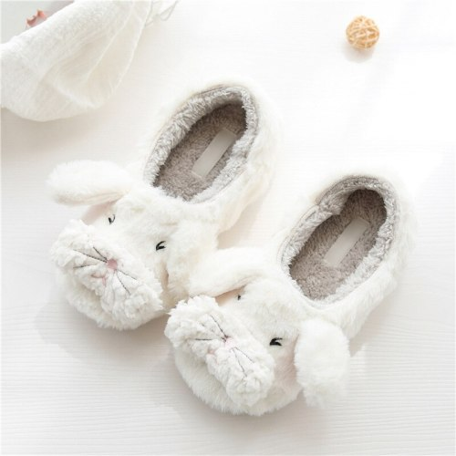 Home Slippers For Bedroom Women Winter Warm Plush Furry Slippers