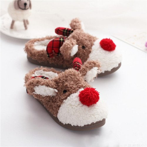 Soft Short Plush Women Autumn Winter  Lovers Furry Home Slippers