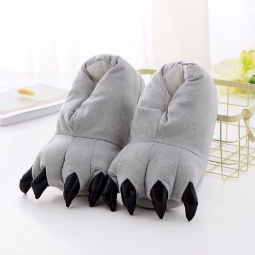 Winter Super Soft Velvet Paw Shoes Thick Non-Slip Cotton Home Slippers