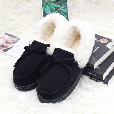 Winter Cotton Slippers Home Couple Non-Slip Indoor Silent Soft Bottom Plush Slippers