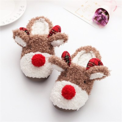 Soft Short Plush Women Autumn Winter  Lovers Furry Home Slippers