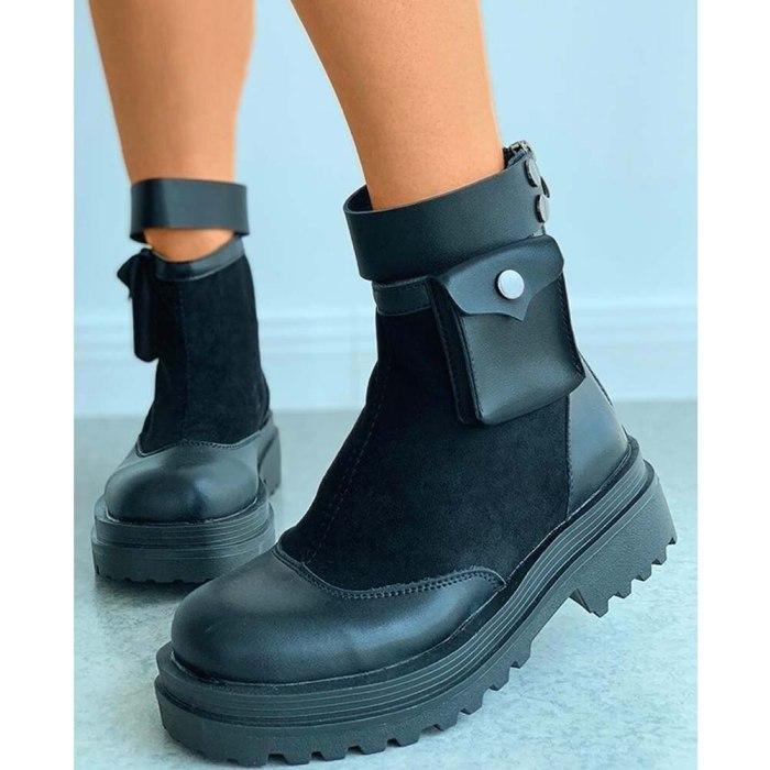 Walking Ankle Booties Shoes Women Sole Platform Boots Female