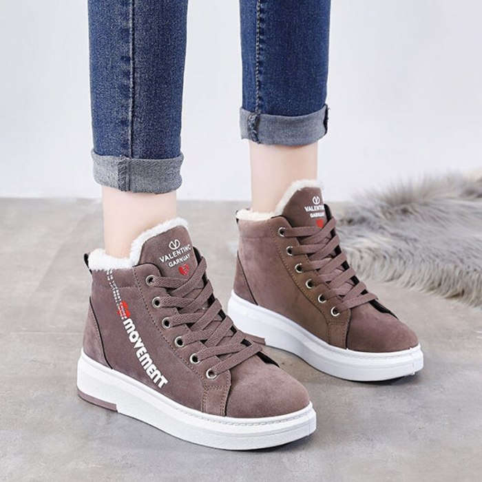 Ankle Boots Women Snow Boots Female Sneakers Fur Shoes
