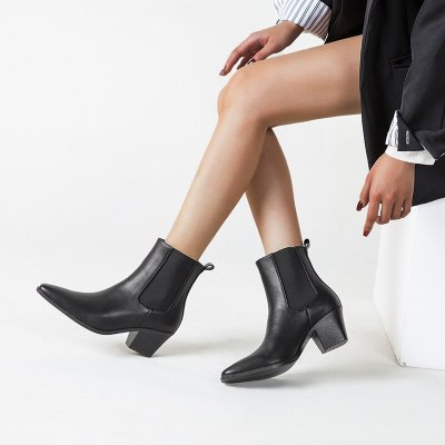 Shoes Western Cowboy Boots High Heels Ankle Shoes Lady