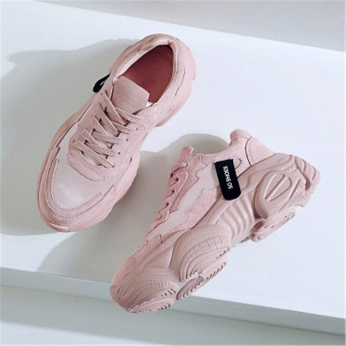 New Women's Chunky Sneakers 2020 Fashion Women Platform Shoes Lace Up Vulcanize Shoes Women Female Trainers Shoes