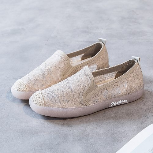 2020 Spring Summer Low platform Walking Shoes Women Breathable Sneakers Flats Ladies Slip On Flat Loafers