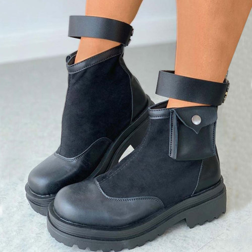 Walking Ankle Booties Shoes Women Sole Platform Boots Female