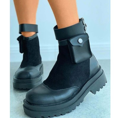 Comfortable For Walking Ankle Booties Shoes Women Leisure Skidproof Sole Platform Boots Female