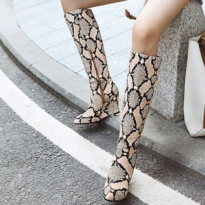 High Wedges Heels Pointed Toe Trendy Winter Boots Shoes Women