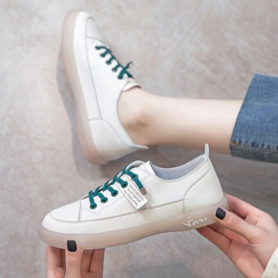 2020 platform sneakers women shoes pu leather Transparent Oxford Walking sneakers flat slip on Vacation shoes