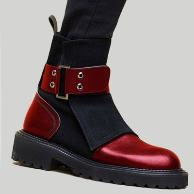 Luxury Leisure Autumn Winter Women Shoes Fashion Patchwork Ankle Boots