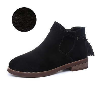 Fashion Leather Platform Ankle Boots Women heel Tassel Female Shoes
