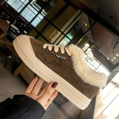 Cotton Shoes Women Winter 2020 New Plush Winter Warm Plush Shoes Winter Versatile Women Shoes Cotton Heavy Board Shoes