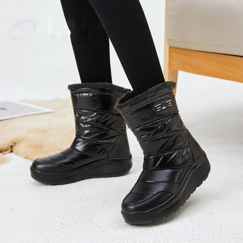 2020 Non-slip High top Snow boots Women Winter Shoes Waterproof Thick Flat platform ankle Boots Winter Warm plush Ladies Shoes