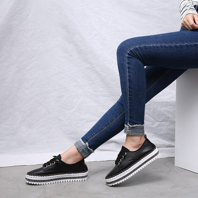 2020 women platform sneakers shoes female Genuine Leather Walking flats Loafers for women White Comfort Vacation shoes