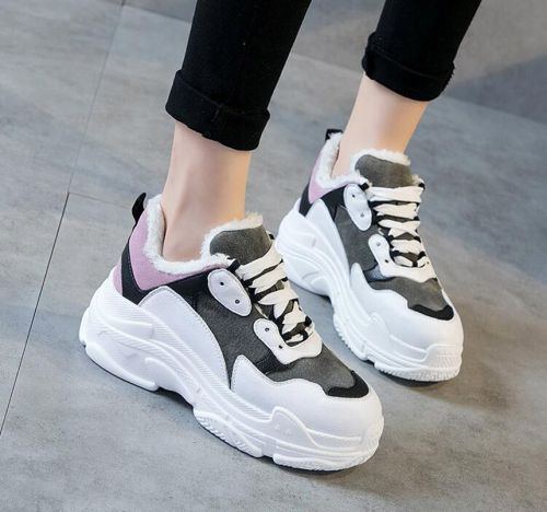 High quality women's Winter sports shoes warm breathable students board shoes