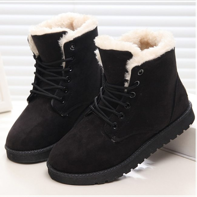 Shoes Warm Snow Boots Women Ankle Boots For Female Winter Shoes