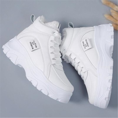 Winter Wedges Ankle Boots Fashion Sneakers Warm Women Platform