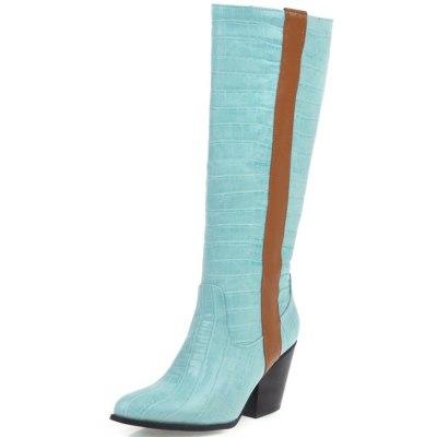 Chunky Heels Walk On Wide Fit Boots Winter Shoes Women