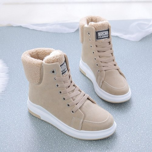 Snow Boots Women's Shoes 2020 New Winter Shoes Girls Thick Bottom Student Warm Martin Boots