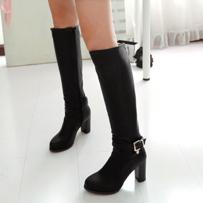 High Heels Great Quality Zipper Knee High Lady Winter Boots Shoes Women