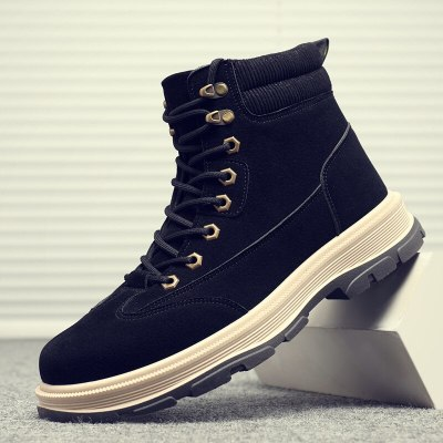 Men's casual boots warm Men work boots classic Lace-up boots fashion men's boots Brand Hot Sale