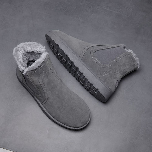 PU Leather Men Ankle Boots Wild Footwear Shoes Men Shoes