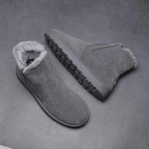 PU Leather Men Boots Winter Autumn Ankle Boots Wild Footwear Shoes Men Shoes