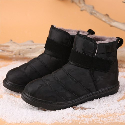 Fashion Men Boots Women Ankle Snow Boots Shoes Warm Fur Winter Shoes
