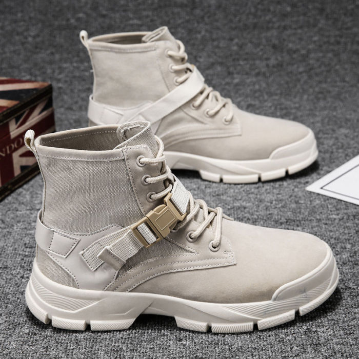 Men Boots Leather Boots Men Winter Ankle Shoes for Men Winter Casual