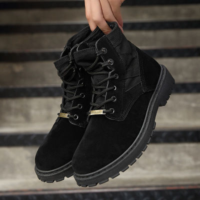 Boots Leather Waterproof Lace Up Boots Ankle Shoes for Men Winter Casual