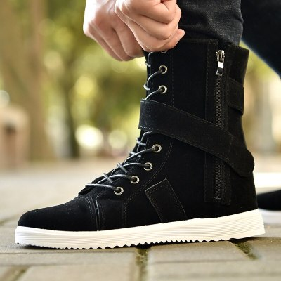 Suede Leather Ankle Boots Men Autumn Men Shoes Casual