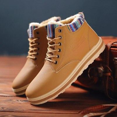 Men's Winter Snow Boots Fur Ankle Boots Men Casual Shoes