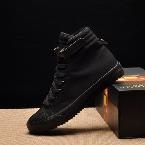 Winter Shoes Men High top Canvas Casual Men Ankle Boots