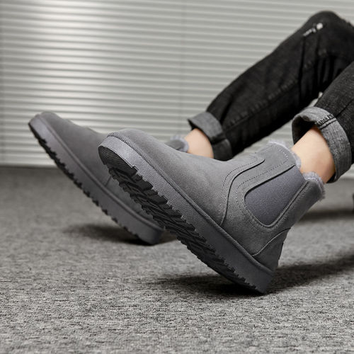 PU Leather Men Ankle Boots Wild Footwear Shoes Men Shoes