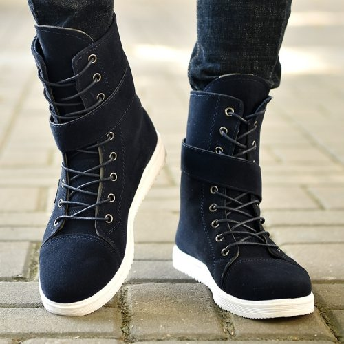 Suede Leather Ankle Boots Men Autumn Men Shoes Casual