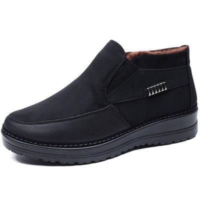 Fashion Winter Men Boots Waterproof Fur Warm winter Ankle Shoes