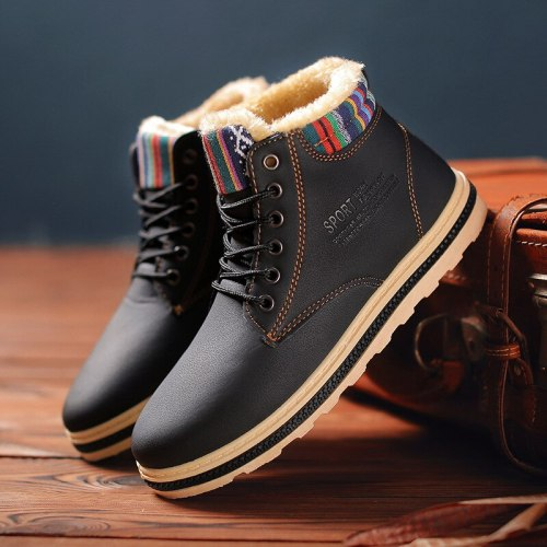 Men's Winter Snow Boots Fur Ankle Boots Men Casual Shoes