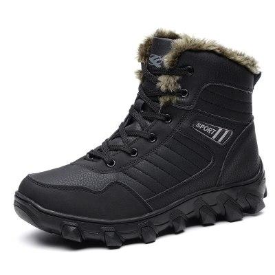 Autumn Winter Warm Fur Men Comfortable High Top Snow Boots