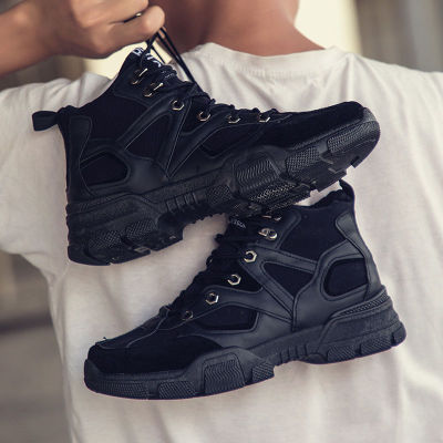 Men Winter Shoes Warm Ankle Leather Boots Shoes Warm Sneakers
