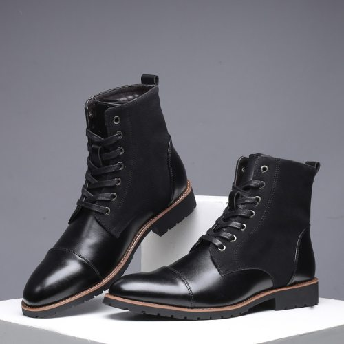 Winter Men Snow Boots Warm Men Boots Winter Casual Leather Shoes Boots